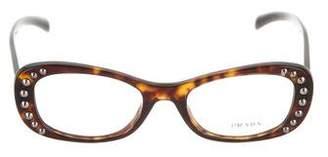 Prada Studded Tortoiseshell Eyeglasses