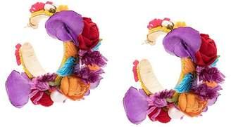 Ranjana Khan floral hoop earrings