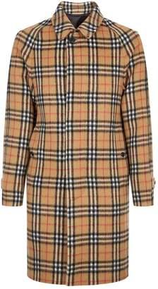 Burberry Camden Check Car Coat