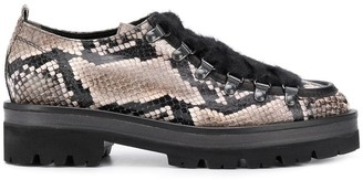 Kennel + Schmenger Kennel&Schmenger snakeskin-effect brogues