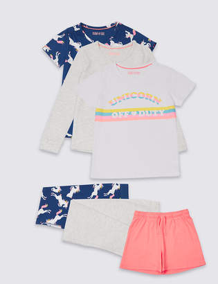 Marks and Spencer 3 Pack Printed Pyjamas (3-16 Years)