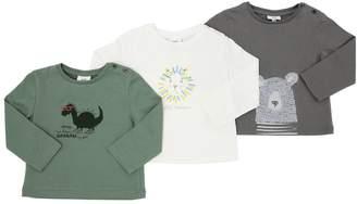 Set Of 3 Printed Cotton Jersey T-Shirts