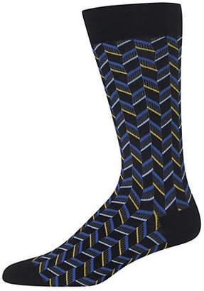Hot Sox Herringbone Crew Socks