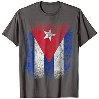 Cuba Flag Vintage Aged Distressed T-Shirt