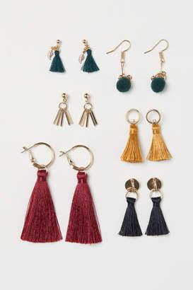H&M 6 Pairs Earrings - Red