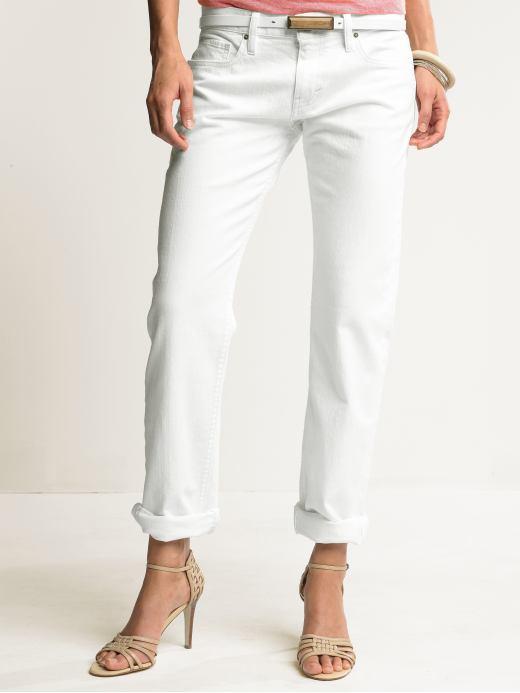 White boyfriend jean