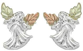 Angel Heart Black Hills Earrings, Sterling/12KGold