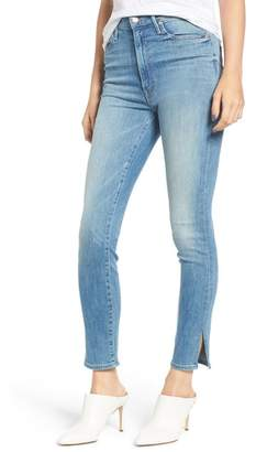 Mother The Swooner High Waist Slice Ankle Skinny Jeans (Lemonade & Lies)