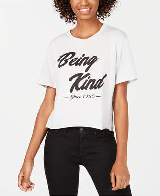 Rebellious One Juniors' Kind Cotton Graphic T-Shirt