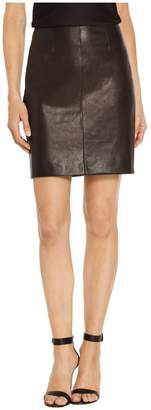 St. John Stretch Nappa Leather Skirt