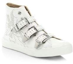 Kyle High-Top Leather Sneakers