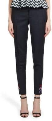 Mary Katrantzou Bellagio Army Twill Trousers