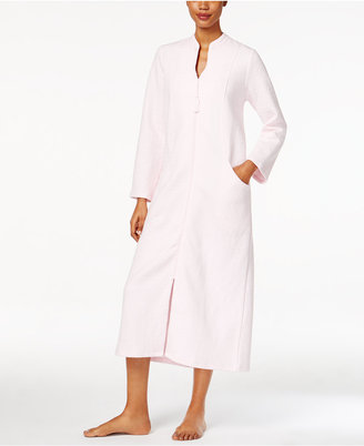 Charter Club Quilted Zip-Front Long Robe, Only at Macy's $75 thestylecure.com