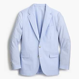 J.Crew Ludlow Slim-fit unstructured suit jacket in blue seersucker
