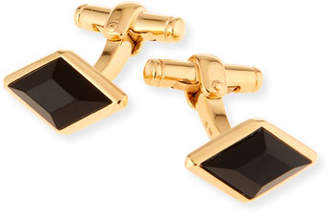 Dunhill Diamond-Shape Cuff Links with Onyx