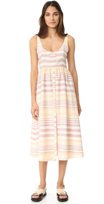 Mara Hoffman Button Front Midi Dress $350 thestylecure.com