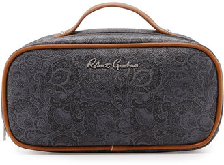 Robert Graham Faux-Leather Toiletry Bag, Black Paisley $45 thestylecure.com