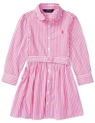 Ralph Lauren Girls' Bengal Stripe Shirtdress - Little Kid