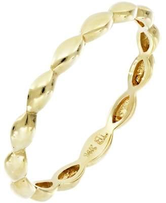Bony Levy 14K Yellow Gold Beaded Band Ring