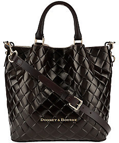 Dooney & Bourke Small Woven Embossed Leather Barlow Satchel $278 thestylecure.com