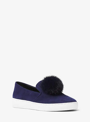 Michael Kors Eddy Pom-Pom Suede Slip On Sneaker