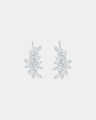 Swarovski Earring Earcuff Floral Crystals 925 Silver