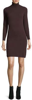Neiman Marcus Long-Sleeve Turtleneck Cashmere Dress, Plus Size