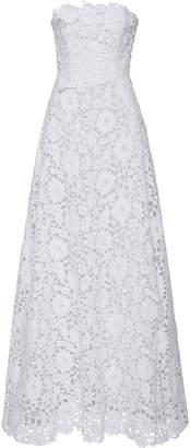Carolina Herrera Bridal Gertrude Lace Strapless Gown
