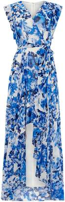 Eliza J V neck printed maxi dress