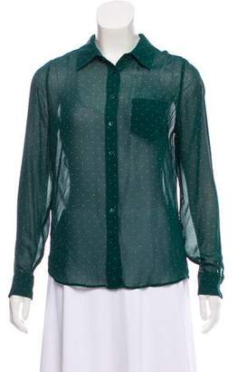 Equipment Long Sleeve Button-Up Blouse