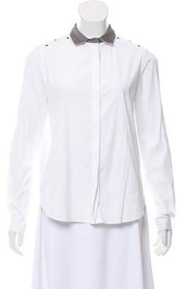 Fabiana Filippi Silk-Trimmed Button-Up