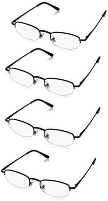Foster Grant Women's Multi-pack Readers ARD3.COM Rectangular Reading Glasses