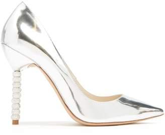 Sophia Webster Coco crystal embellished-heel leather pumps
