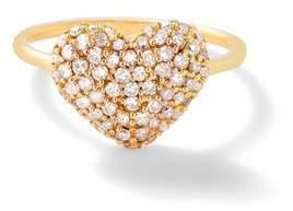 Shebee Gem Diamond Puffy Heart Ring
