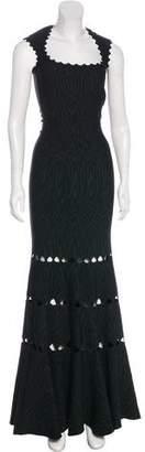 Alaia Metallic Sleeveless Gown