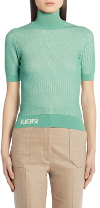 Fendi Short Sleeve Mesh Sweater