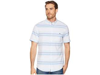 Vineyard Vines Slim Fit Sand Piper Stripe Short Sleeve Oxford Tucker Shirt