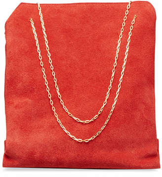 The Row Small Suede Lunch Bag