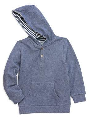 Sovereign Code Boys' Textured Henley Hoodie - Little Kid