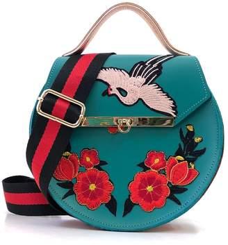 Angela Valentine Handbags - Loel Floral & Crane Top Handle Bag