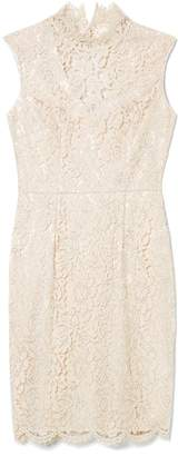 Vince Camuto Lace Mock-neck Dress