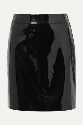 Saint Laurent Patent-leather Mini Skirt - Black