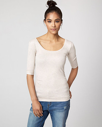 Le Château Rib Knit Scoop Neck Top