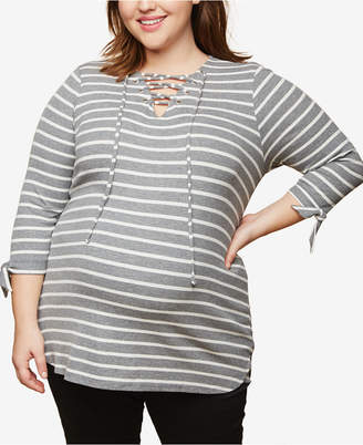 Motherhood Maternity Plus Size Lace-Up Top