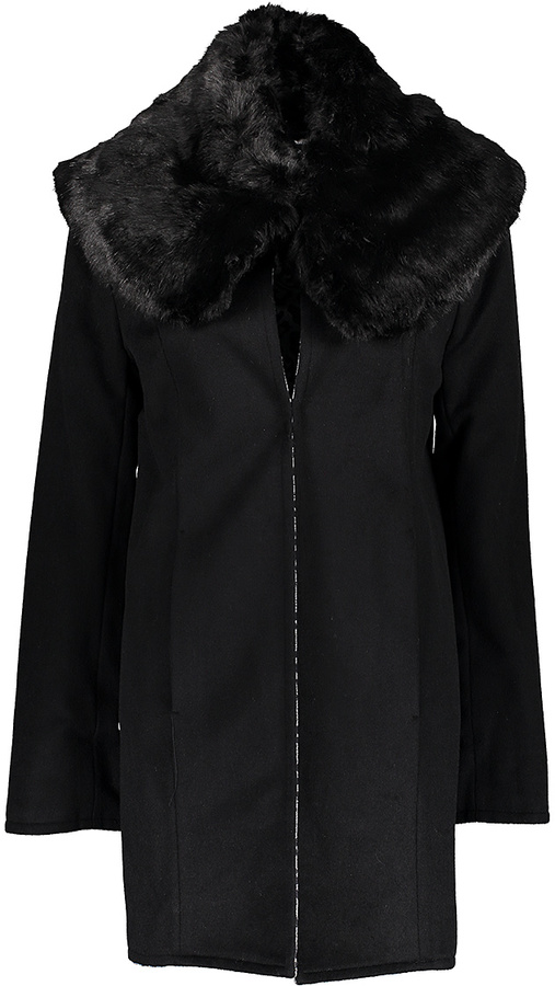Betsey JohnsonBlack & Snow Leopard Reversible Coat