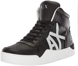Armani Exchange A|X Men's High Top Perforated Lace up Sneaker