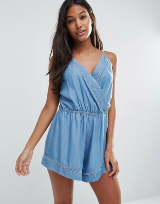 Seafolly Chambray Beach Romper $100 thestylecure.com