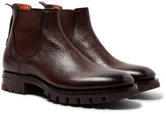 Santoni Full-Grain Leather Chelsea Boots