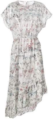IRO printed asymmetric hem dress