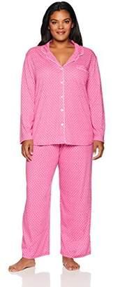 Karen Neuburger Women's Plus Size Long Sleeve Pajamas Set Pj,2X